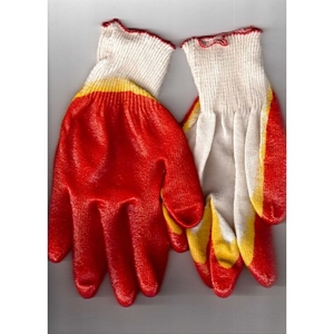 Перчатки красные, двойной облив