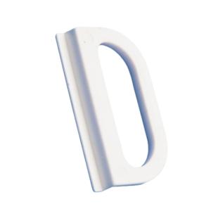 Ручка м/с пластиковая белая