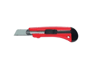 Нож 18мм универ. обрезин. 3 лезвия с фиксатором