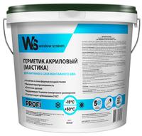 WS (WINDOW SYSTEM) Акриловый герметик для наружного шва 7кг.